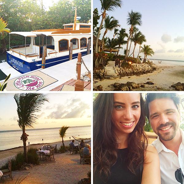 Wouter nam me mee naar een eilandje voor een romantisch diner!
